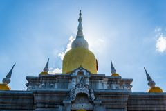 Silhouette Buddha's relics in Thailand, Name is phra tard na dun Royalty Free Stock Photos