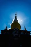 Silhouette Buddha's relics in Thailand, Name is phra tard na dun Stock Photography