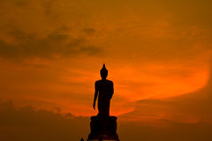 Silhouette of Buddha statue Royalty Free Stock Photo