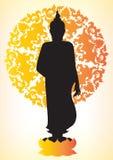 Silhouette of Buddha Stock Photos