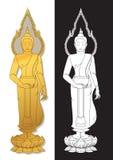 Silhouette of Buddha Royalty Free Stock Photos