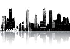 Silhouette buildings Stock Photos