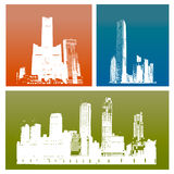 Silhouette buildings Royalty Free Stock Photo