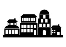 silhouette of buildings design Royalty Free Stock Photo