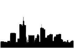 A silhouette of buildings in Frankfurt. A silhouette of buildings in the financial centre in Frankfurt, Germany royalty free illustration