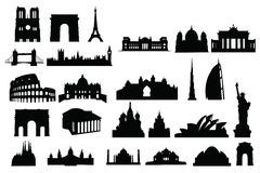 Silhouette buildings Royalty Free Stock Photography