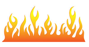 Silhouette of burning fire flame. Vector-Illustration Stock Photos