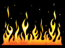 Silhouette of burning fire flame. Vector-Illustration Royalty Free Stock Photos