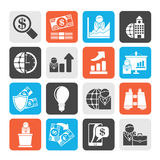 Silhouette Business and Finance Strategies  Icons Royalty Free Stock Photos