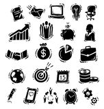 Silhouette business icons Royalty Free Stock Photos