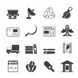 Silhouette Business and industry icons. Vector Icon set 2 Royalty Free Stock Images