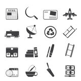 Silhouette Business and industry icons. Vector Icon set 2 Stock Photography