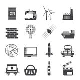 Silhouette Business and industry icons Stock Photo