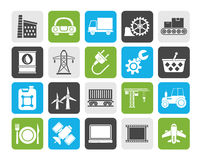 Silhouette Business and industry icons Stock Images
