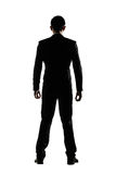 Silhouette of business man standing Royalty Free Stock Photo