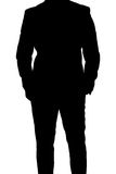 Silhouette of business man in suit Stock Image