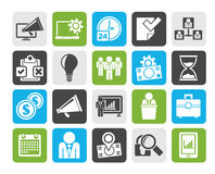Silhouette Business management concept icons Stock Photography