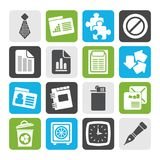 Silhouette Business and Office Icons. Vector Icon Set Royalty Free Stock Image