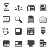 Silhouette Business and office  Icons Royalty Free Stock Photography