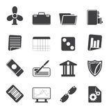Silhouette Business and Office Icons. Vector Icon Set 2 Royalty Free Stock Photo