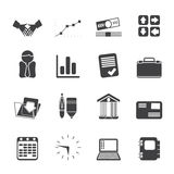 Silhouette Business and Office icons Royalty Free Stock Images