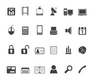 Silhouette Business and office icons Royalty Free Stock Image