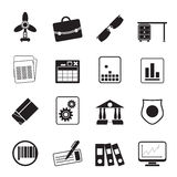 Silhouette Business and Office Icons. Vector Icon Set 2 Stock Photos