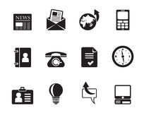Silhouette Business and office icons Royalty Free Stock Photo