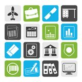 Silhouette Business and Office Icons. Vector Icon Set 2 Stock Photography