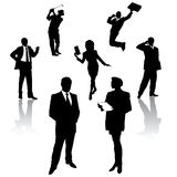 Silhouette of business people vector illustration