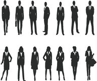 Silhouette for business people Royalty Free Stock Photos