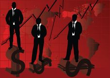 Silhouette of business people. Black silhouette of business people Royalty Free Stock Images
