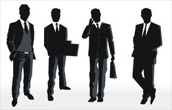 silhouette  of business people Stock Photos