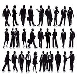 Silhouette of business people Royalty Free Stock Photo