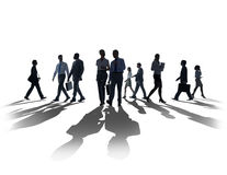 Silhouette Business People Commuter Walking Rush Hour Concept Royalty Free Stock Photography