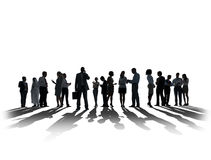 Silhouette Business People Discussion Communication Meeting Conc Royalty Free Stock Photo