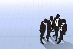 Silhouette Business People Group Standing Top Angle View, Businessman Colleague Team Banner With Copy Space. Silhouette Black Business People Group Standing Top Royalty Free Stock Photos