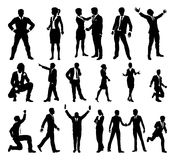 Silhouette Business People Set Stock Image