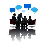 Silhouette of Business People Social Gathering Royalty Free Stock Photo