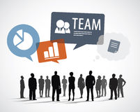 Silhouette Business People with Team Concepts Stock Image