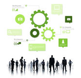 Silhouette of Business People Teamwork Infographic Royalty Free Stock Image