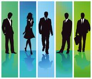 Silhouette of business professionals Royalty Free Stock Photo