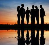 Silhouette business team. stock photos