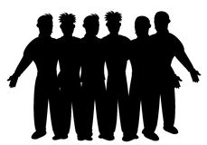 Silhouette of business team Stock Images