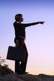 Silhouette of Business Woman Stock Photos