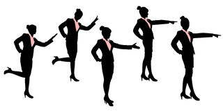 Silhouette of business woman Stock Photo