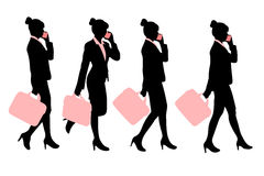 Silhouette of business woman Royalty Free Stock Photos