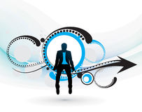 Silhouette of businessman Stock Images