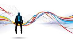 Silhouette of businessman stock illustration