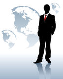 Silhouette of the businessman Stock Photography